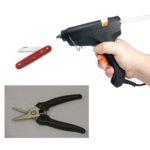 floral design tools knife clippers hot glue gun