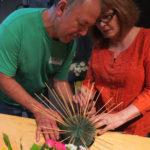 creating floral arrangement in floral foam easy formula