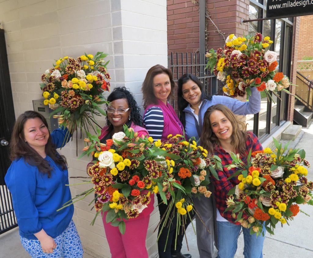 creating European hand tight bouquet in 15 minuites
