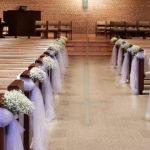 wedding-ceremony-baby's-breath-cross